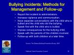 bullying incidents methods for management and follow up