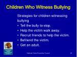 children who witness bullying