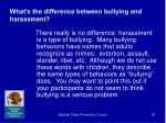 what s the difference between bullying and harassment
