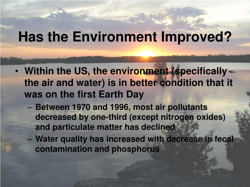 Has the Environment Improved?
