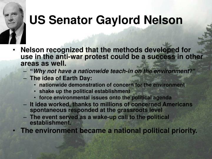 Us senator gaylord nelson