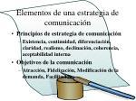 elementos de una estrategia de comunicaci n