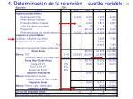 4 determinaci n de la retenci n sueldo variable