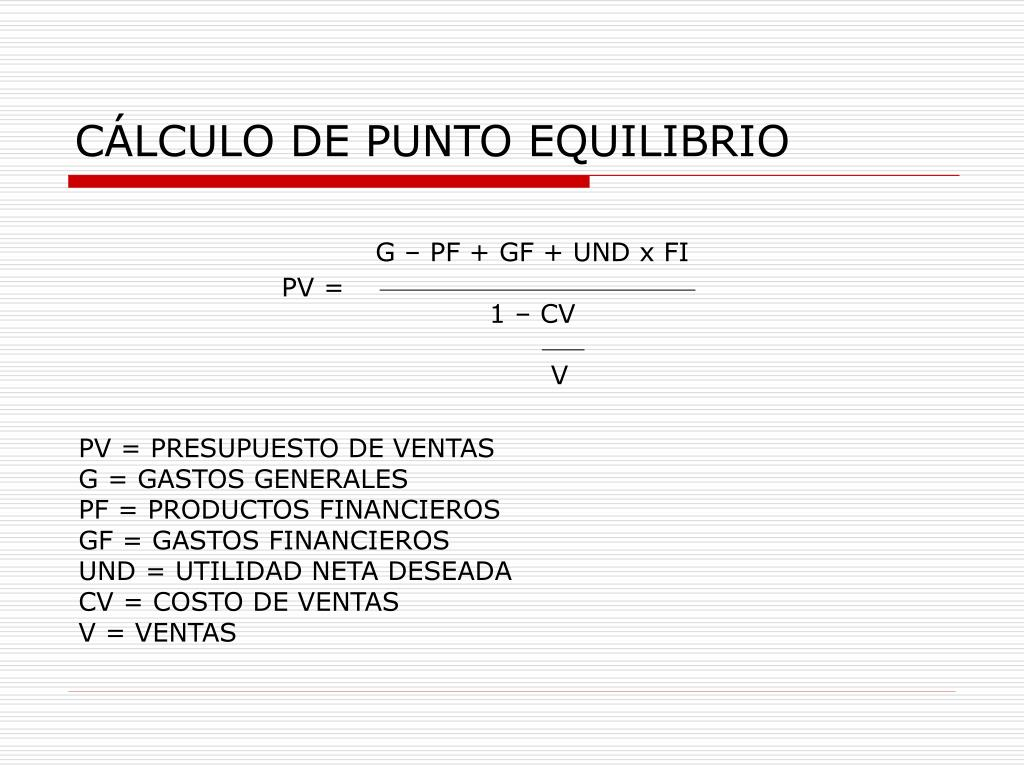 G – PF + GF + UND x FI