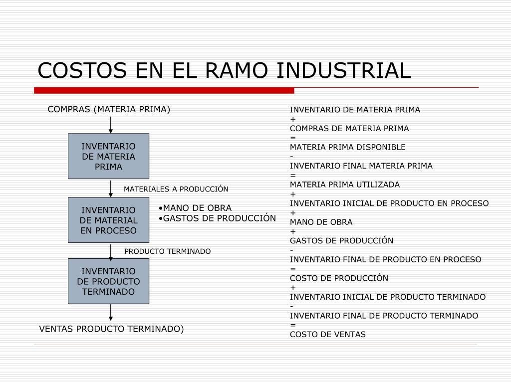 COSTOS EN EL RAMO INDUSTRIAL