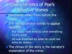 characteristics of poe s detective stories