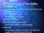 other elements of the gothic