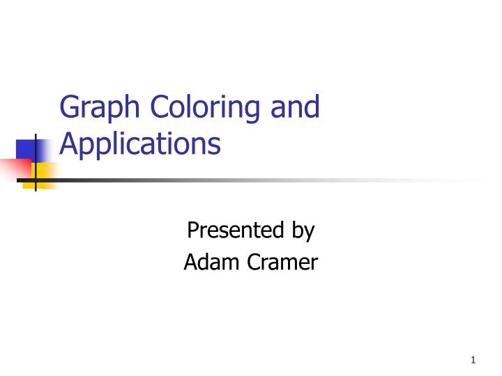 graph coloring and applications n.