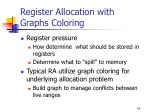 register allocation with graphs coloring