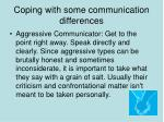 coping with some communication differences