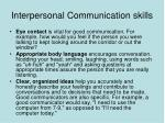 interpersonal communication skills42