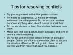 tips for resolving conflicts44