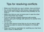 tips for resolving conflicts45