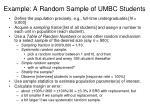 example a random sample of umbc students