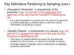 key definitions pertaining to sampling cont5