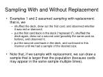 sampling with and without replacement