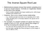 the inverse square root law