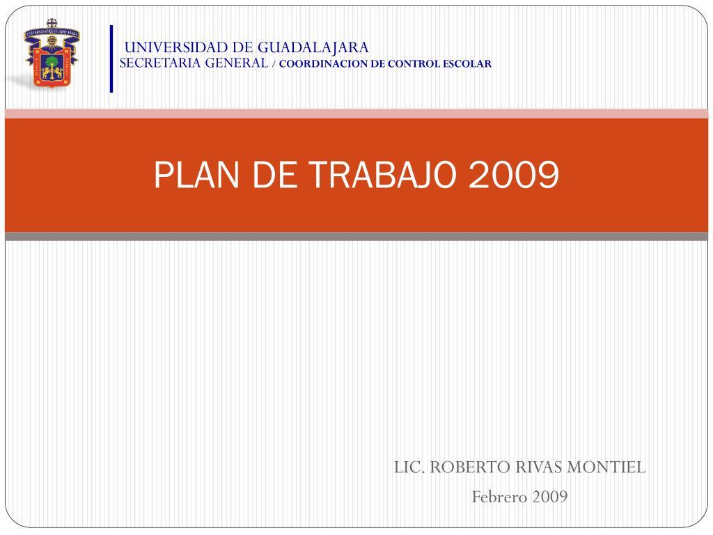 plan de trabajo 2009 l.