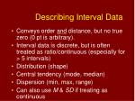 describing interval data
