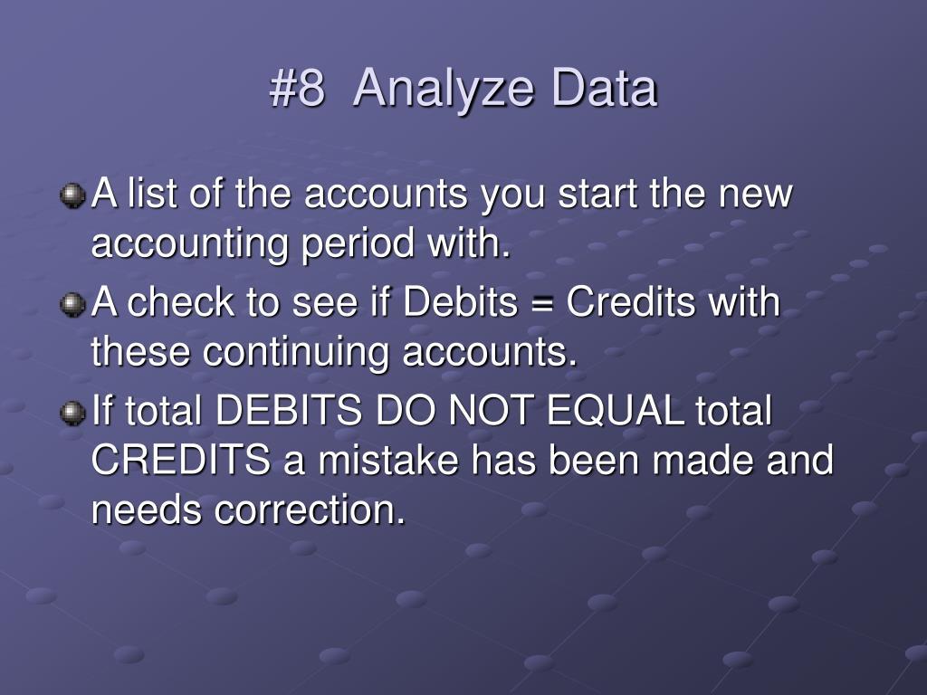 #8  Analyze Data