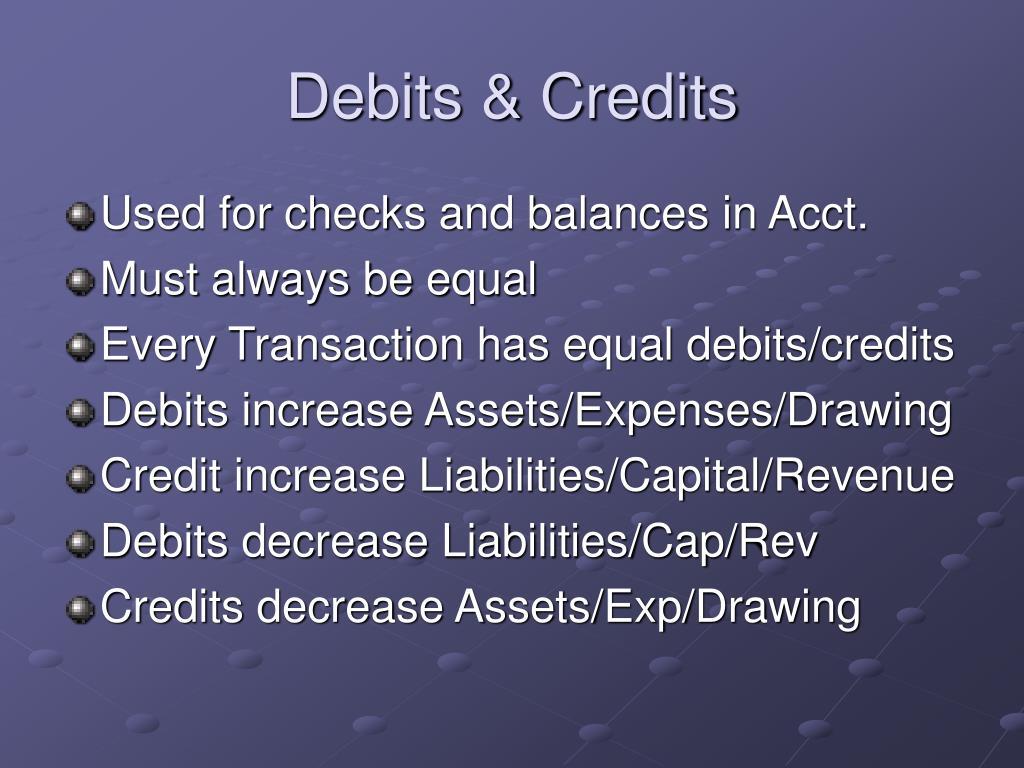 Debits & Credits