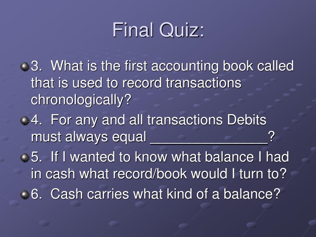 Final Quiz: