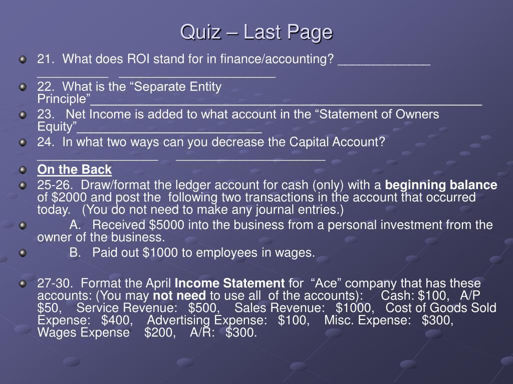 Quiz – Last Page