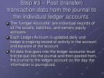 step 3 post transfer transaction data from the journal to the individual ledger accounts