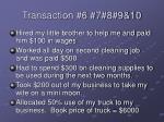 transaction 6 7 8 9 10