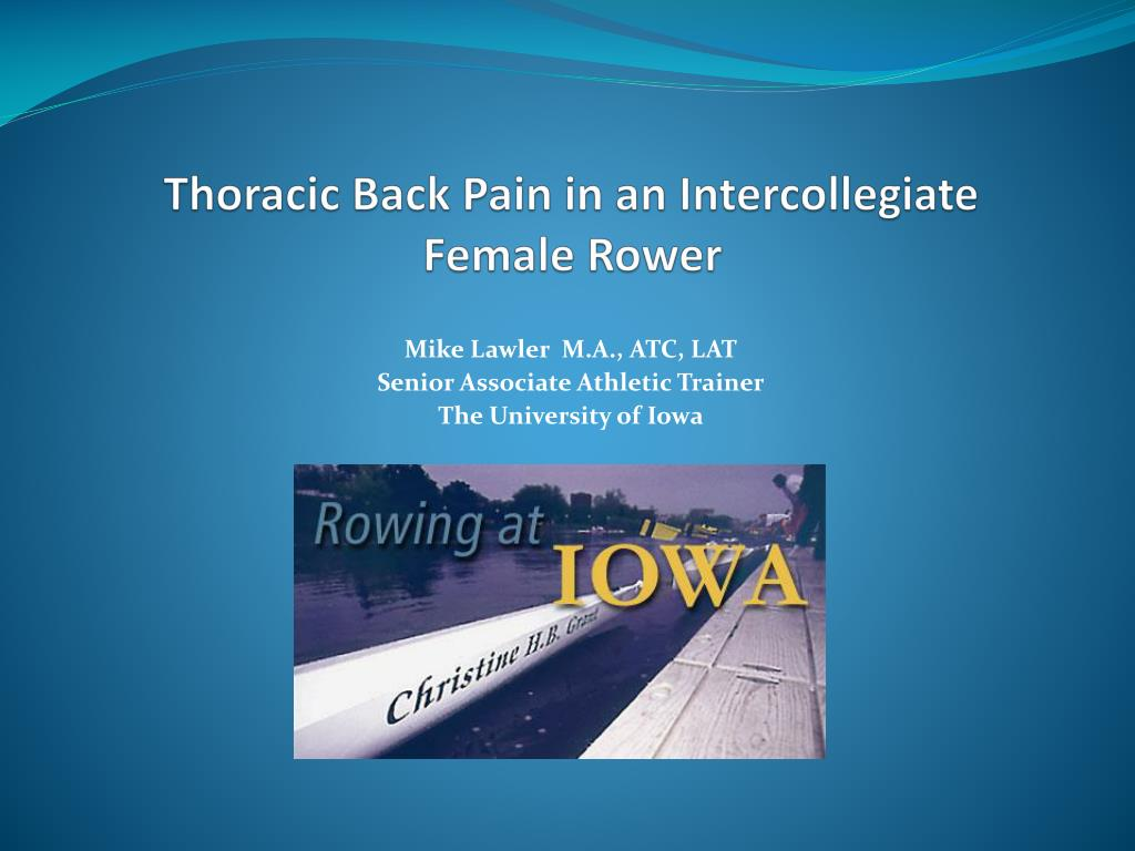 thoracic back pain in an intercollegiate female rower l.