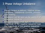 3 phase voltage unbalance