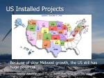 us installed projects