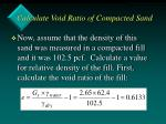 calculate void ratio of compacted sand