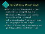 fort worth relative density study