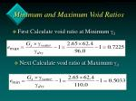 minimum and maximum void ratios