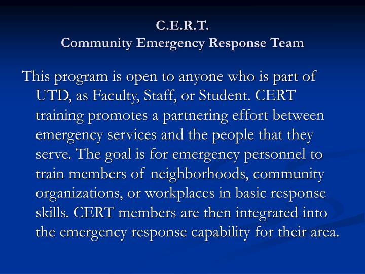 C.E.R.T.