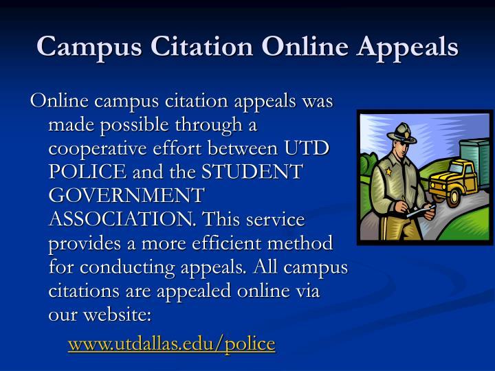 Campus Citation Online Appeals