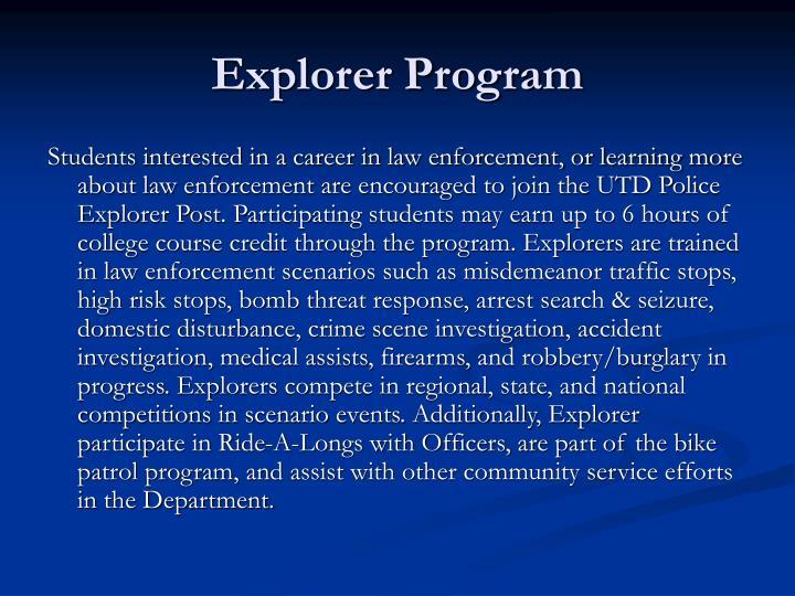 Explorer Program