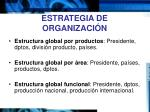 estrategia de organizaci n