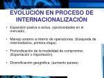 evoluci n en proceso de internacionalizaci n
