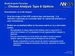 modal analysis procedure choose analysis type options23
