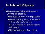 an internet odyssey