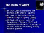 the birth of arpa