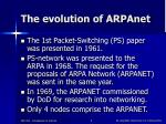 the evolution of arpanet
