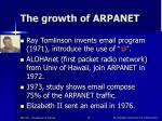 the growth of arpanet18