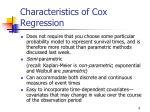 characteristics of cox regression