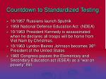 countdown to standardized testing