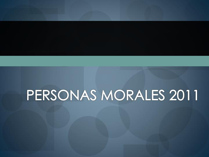 personas morales 2011 n.