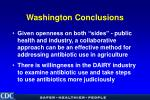 washington conclusions