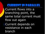 current in parallel